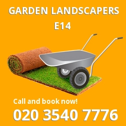 E14 garden landscapers Canary Wharf