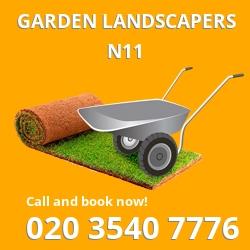 N11 garden landscapers Brunswick Park