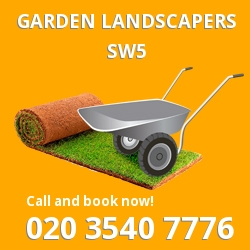 SW5 garden landscapers South Kensington