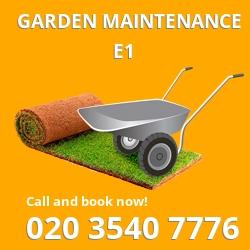 Shadwell garden maintenance E1