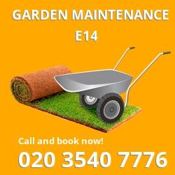 Isle of Dogs garden maintenance E14