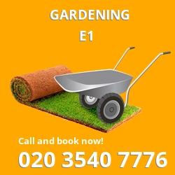 E1 gardening Mile End