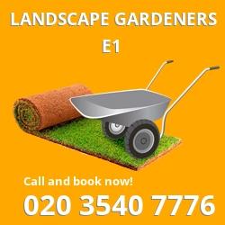 E1 landscape gardeners Whitechapel