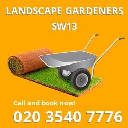 SW13 landscape gardeners Barnes